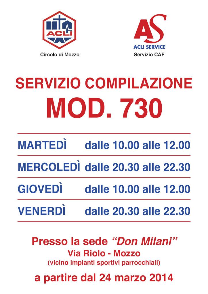 Servizio compilazione modello 730 for 730 obbligatorio
