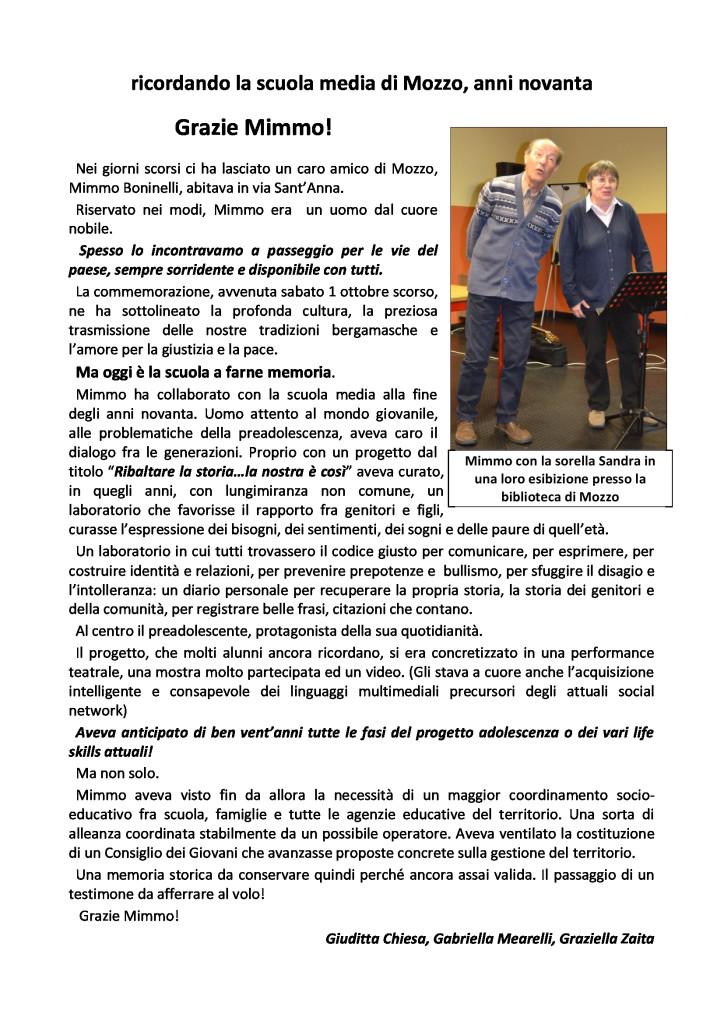 Articolo per Mimmo-Boninelli
