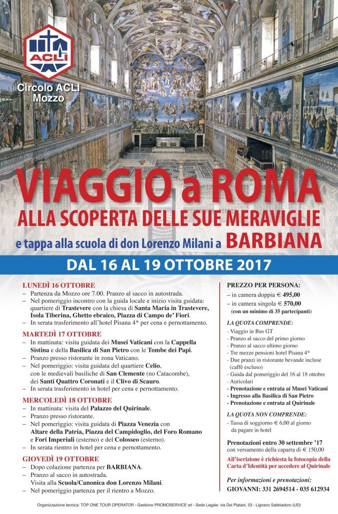 Gita a Roma e Barbiana 2017