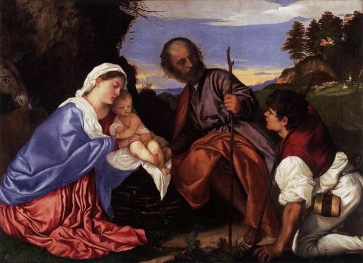 tiziano-la-sacra-famiglia-con-un-pastore-anno-1510